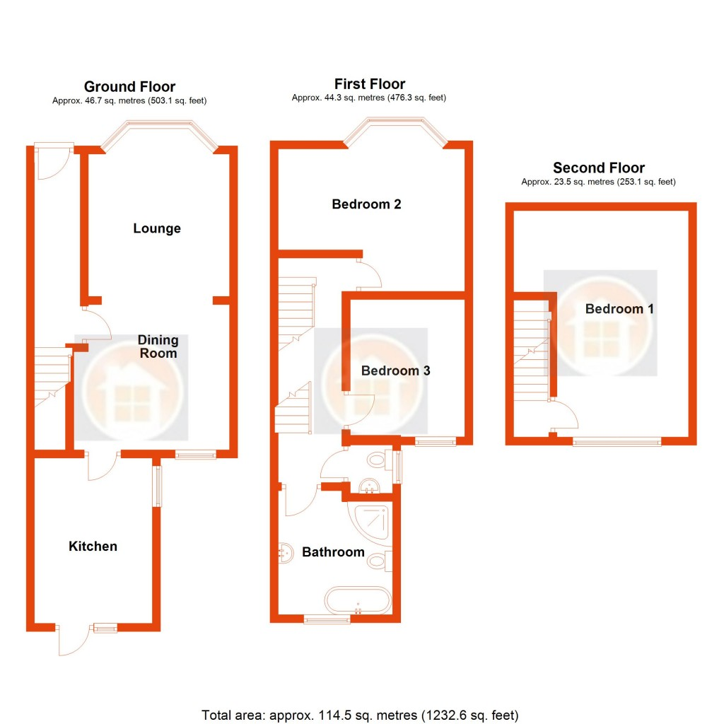 Floorplans For North Road, Bexhill-on-Sea